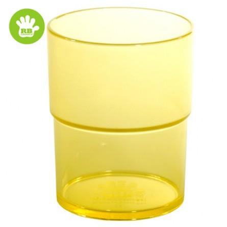 Okrossbart barn glas gul 16 cl