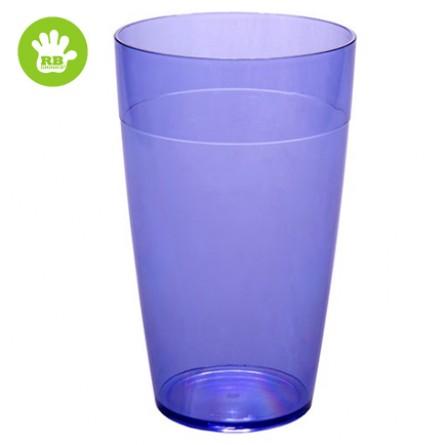Okrossbart glas blå 30 cl