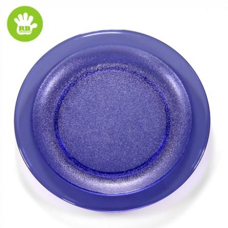 Okrossbart tallrik blå Ø 27 cm