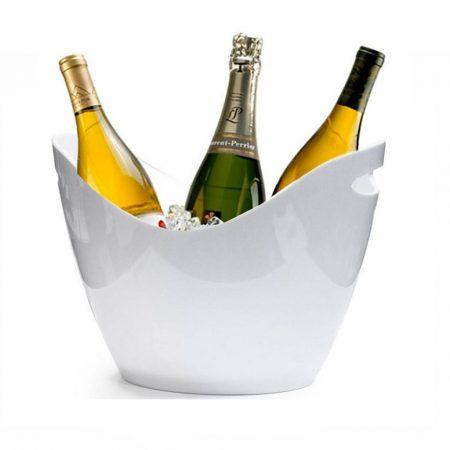 Champagne køler hvid 8 liter