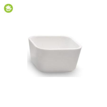 Okrossbart skål vit 8 cl