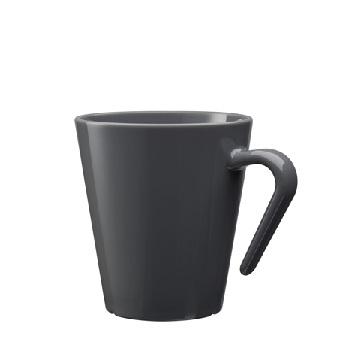 Okrossbart kaffekopp grå 27 cl